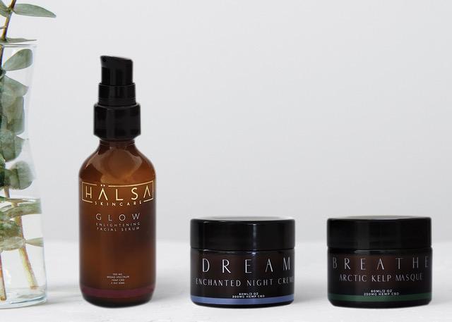 Halsa Botanicals CBD skincare